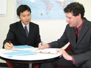早朝英会話コースは平均1~2名の少人数クラス。