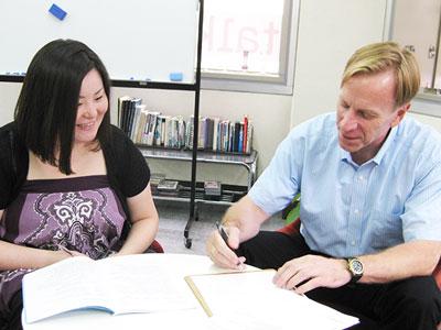 英会話スクールトーク・アベニューの英会話レッスン風景の写真